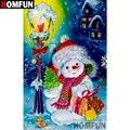 Алмазная 5D картина HOMFUN «Снеговик Рождество», вышивка крестиком из квадратных/круглых страз, домашний декор, A15069