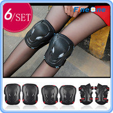 2016 Skating Elbow & Knee Pads Roller Skateboard Elbow Pads Wrist Support Knee Protection Kit for Adult and Kid Skateboarding