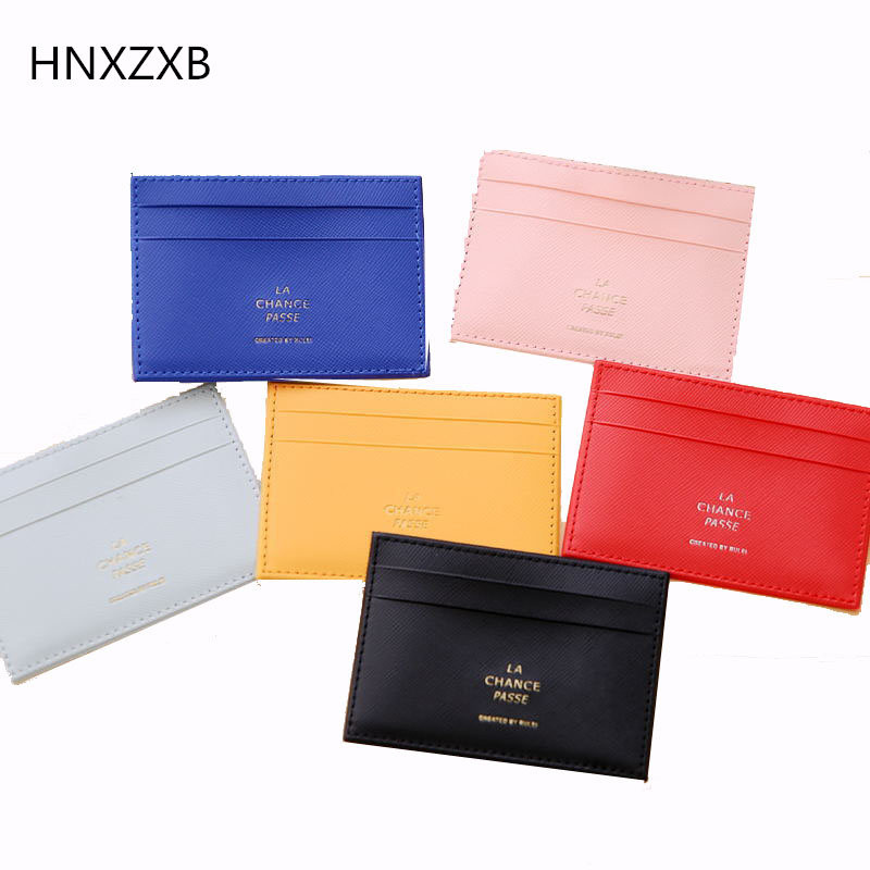 HNXZXB Men\'s PVC Carrying Card Case Mini Wallet Business Card Holder ...