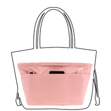 Pink Bag Organizer Insert Women Handbag Purse Large Lady Makeup Necessarie Feminina