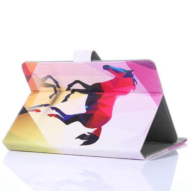 غلاف هاتف ألكاتيل 3T 10.1 بوصة اللوحي 10 بوصة العالمي الأزياء رسمت فليب حامل PU أغطية جلد فوندا حامل شل + القلم