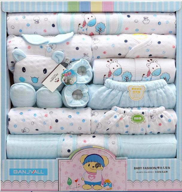 18pcs baby clothing sets newborn gift set Autumn winter infants suit thickening clothes cotton gift boxes baby underwear sets