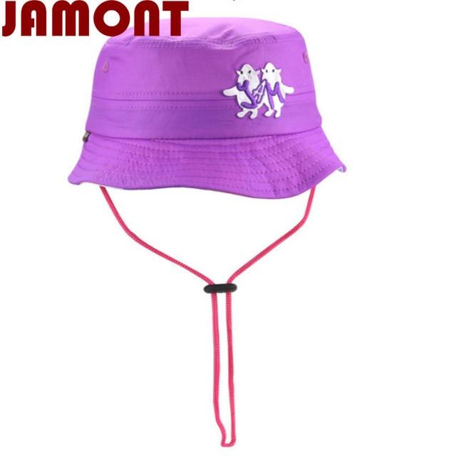 242e1a2864e  JAMONT purple blue orange rose wide brim children bucket hat cap polyester kids  boy girl summer sun hat with string panama