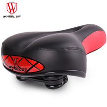 WHEEL UP MTB Bike Saddle High Reflective Lights Bicycle  Elasticity Shock Absorption Hollow Cushion Breathable