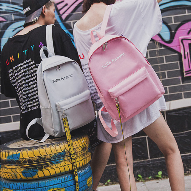 e1bf172f55 Fashion big capacity Backpack for School Teenagers Boy Girls Canvas Fabric  College Students High Middle School Bag 2018 Hot Sale