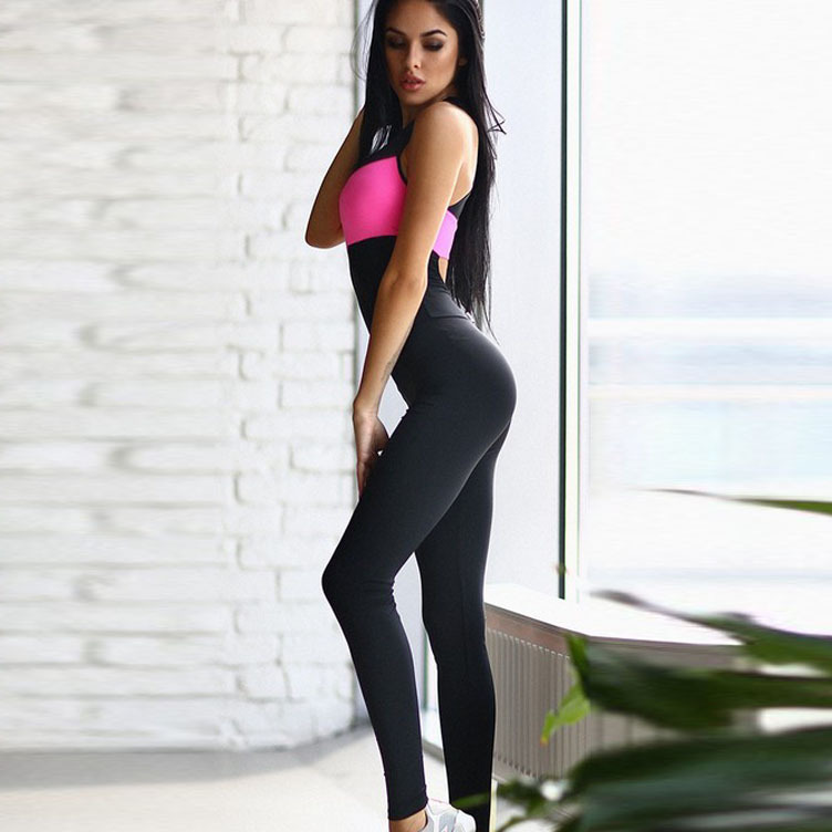 c1d142ab5f4d Donne Fitness Yoga Set Palestra Sport Corsa Tute Da Jogging Danza Tuta  Traspirante Quick Dry Spandex Abbigliamento Sportivo Pagliaccetto in Donne  Fitness ...