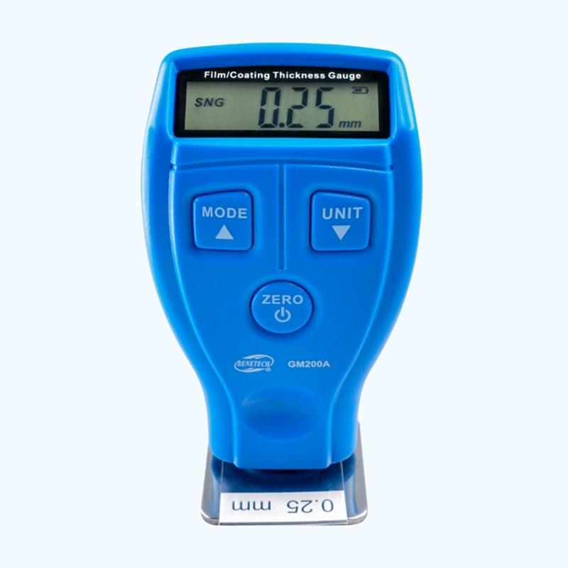 Marca Digital Mini Medidor de espesor de película Recubrimiento automotriz Pintura ultrasónica para automóviles Barniz de hierro Medidor de espesor Medidor de ancho GM200A