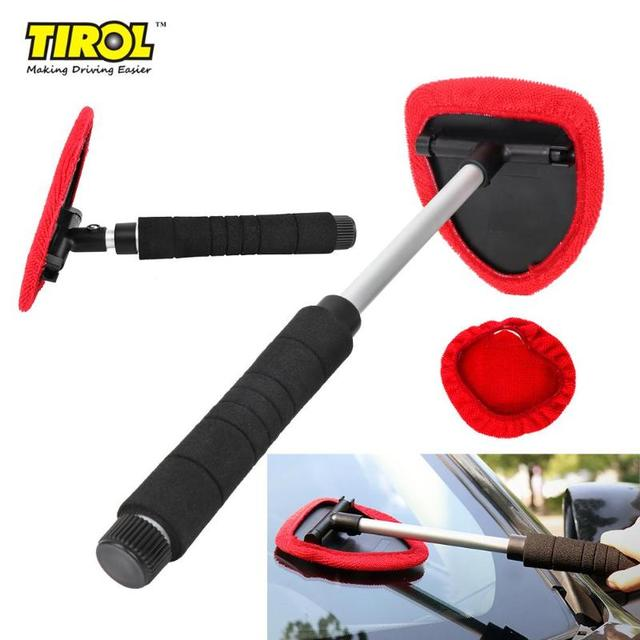 VODOOL Car Windshield Cleaner Brush Wiper Telescopic Handle Auto Window Glass Washer Soft Towel Brush Car Care Cleaning Tools