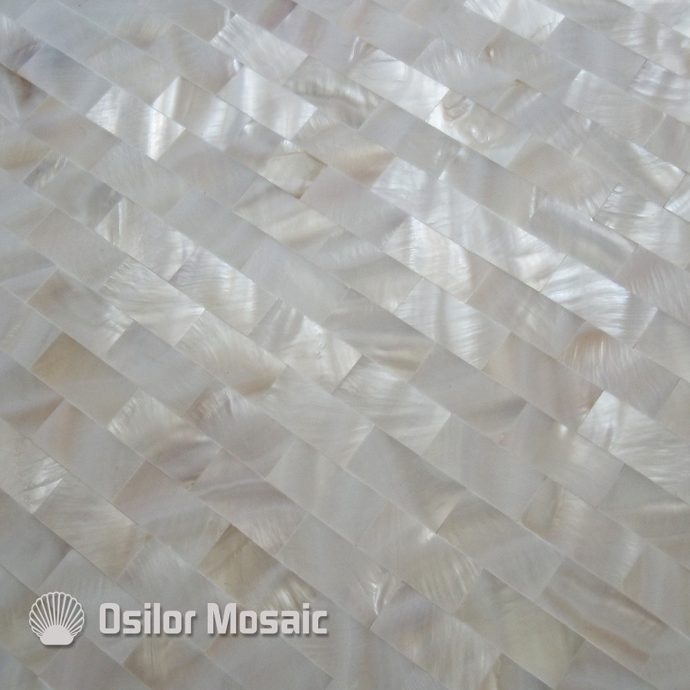 mozaika textury bezešvé bílá - White color natural Chinese freshwater shell seamless mother of pearl mosaic tiles for kitchen backsplash wall tile