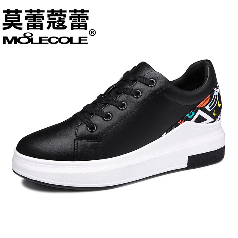 Spring Summer Fashion Women White Casual Shoes Female Soft Breathable PU Leather Walking Shoes Cute Students Lace-Up Flat Shoes tfsland men women genuine leather loafers students white shoes unisex spring round toe lace up breathable walking shoes sneakers