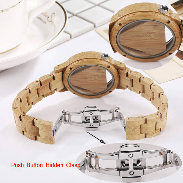 Mens Wooden Watches Hand-Made Engraved Inverted Triangle Wood Watch Men Women Creative Quartz Watch Gifts relogio masculino 4