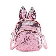 Cute Sequin Rabbit Ear Shoulder Handbags Back Bag Kids Girls Crossbody Bags Bolsas Mochila Feminina Mujer Sac A Main Knapsack