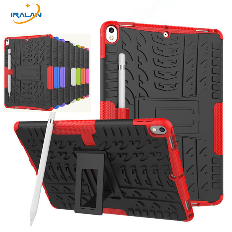 Shockproof Rubber Case For new iPad Pro 10.5 2017 A1701 A1709 Heavy Duty Hybrid Rugged D ...