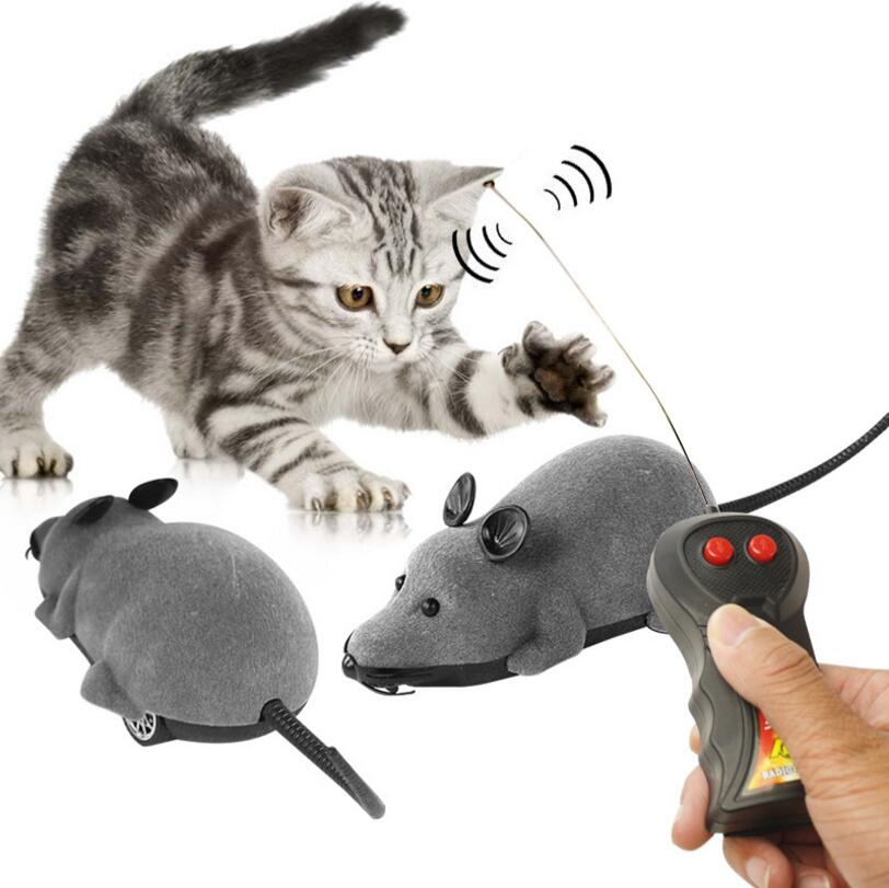 Cute Toys Wireless Electric RC Rat Mouse Remote Control Pets Funny Playing Mouse Cat Kitten Playing Toy Children Birthday Gift