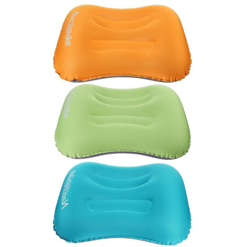 Ultra-léger Portable Air Gonflable En Plein Air Voyage Bureau Doux Oreiller de Couchage Cou Équipement De Protection avec Poche Accueil Oreillers