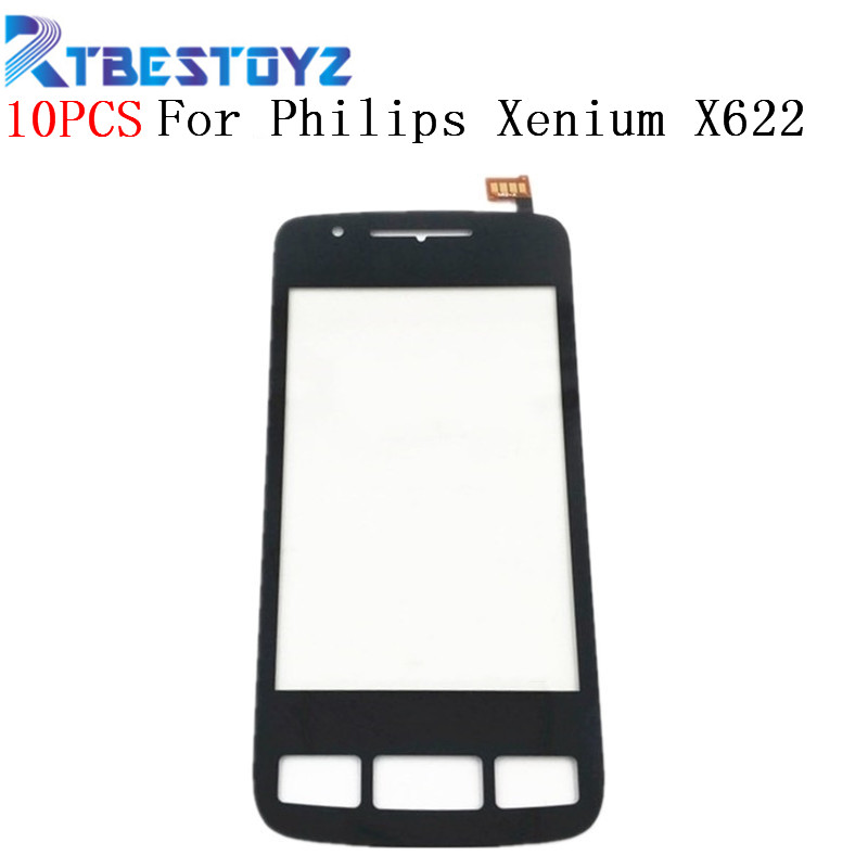 RTBESTOYZ 10PCS Lot Black Sensor Replacement Parts For Philips Xenium X622 Touch Screen Digitizer Panel X622