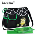 Hot Sale Free Shipping Fashion Baby Diaper Bag Nappy Bag Zebra And Giraffe Pattern Mummy Bag