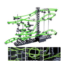 DIY Rollercoaster Educational Toys Spacerail Level 2 Glow In The Dark Marble Roller Coaster with Steel Balls 10000mm 231 2G