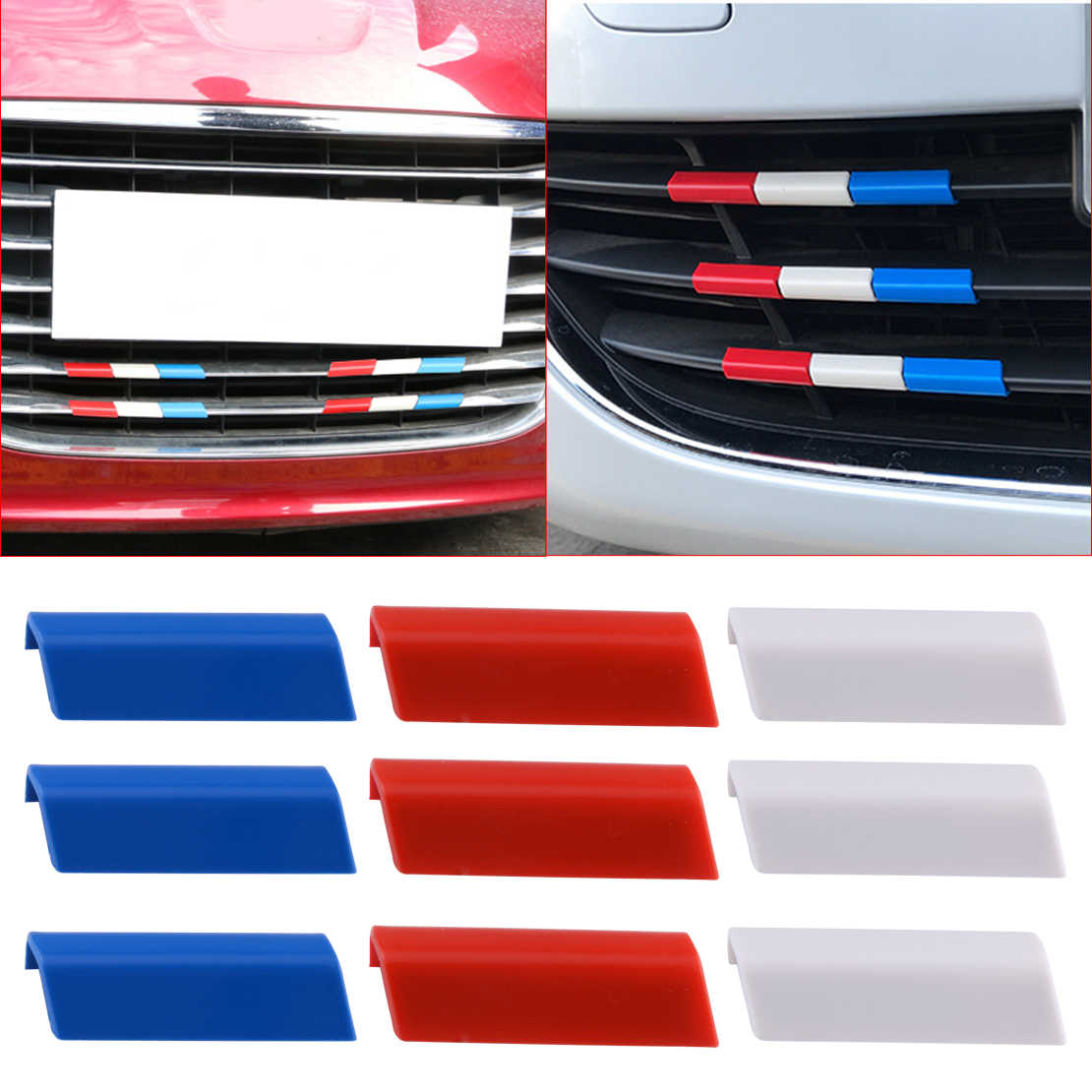 beler Car Front Grille Grill plastic Cover Trim France Flag Color Fit for Peugeot 301 4008 308 408