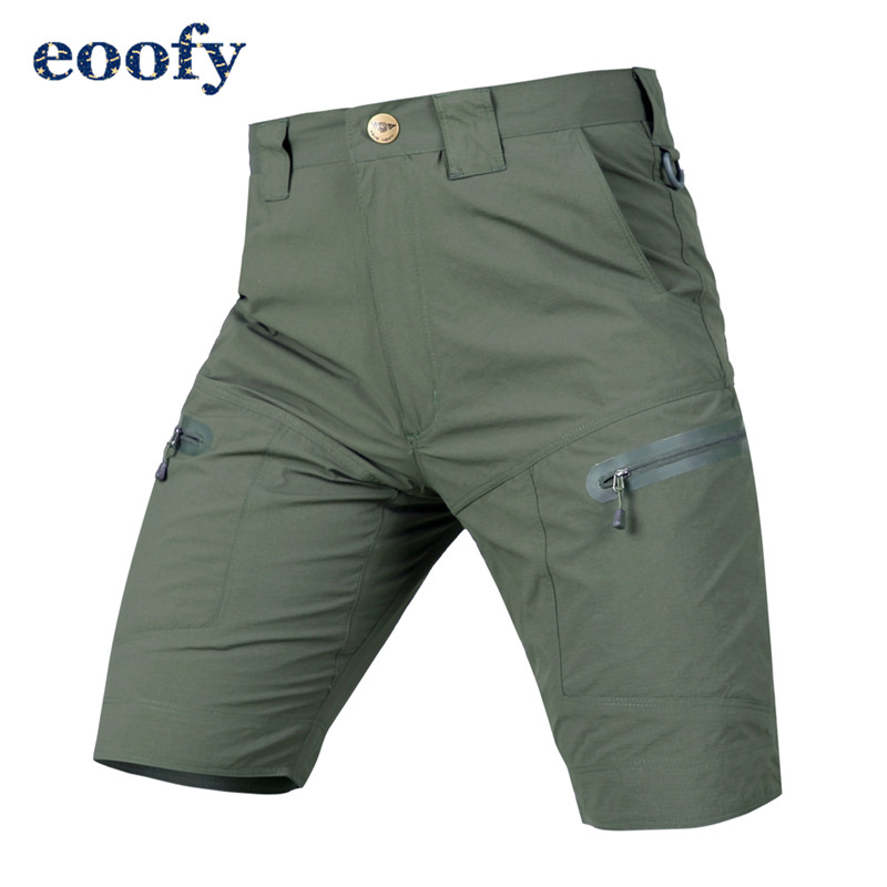 Men Summer Military Tactical Cargo Waterproof Shorts Male Casual Multi Pockets Hiking Solid Shorts for Men 1