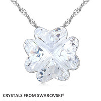 2016 Trendy Hot Sale Pendant Clover Necklace With Crystals From SWAROVSKI Good For Valentine S Day