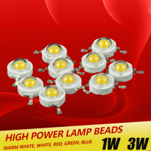 10pcs / lot Epistar High Power 1W / 3W led chips beads bulb diode lamp Warm white / white / red / blue / green for LED Spotlight 50pcs 3w lot real original epistar chip 3w led bulb diodes lamp 200lm 220lm white red yellow blue green rgb uv lr full spect