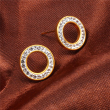XUANHUA Stainless Steel Stud Earrings Jewelry 2018 Fashion Anting Untuk Wanita Perhiasan Brincos Earring Perempuan Lingkaran Errings