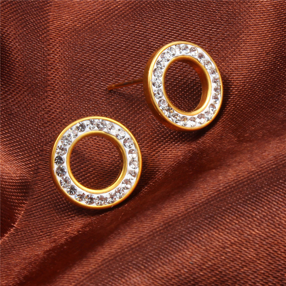 XUANHUA Σκουλαρίκια από ανοξείδωτο - Κοσμήματα μόδας