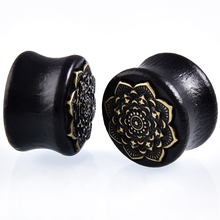 Natural Wooden Mandala Flower Ear  Piercing