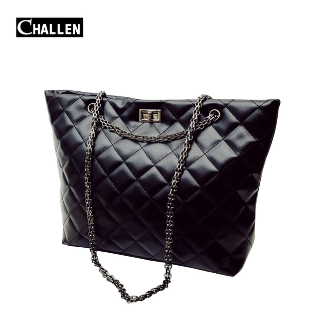 Luxury Quilted Chain Shoulder Bags Fashion Soft Pu Leather Women Bag Female Totes Designer Handbags Famous Brand Bag For Girls