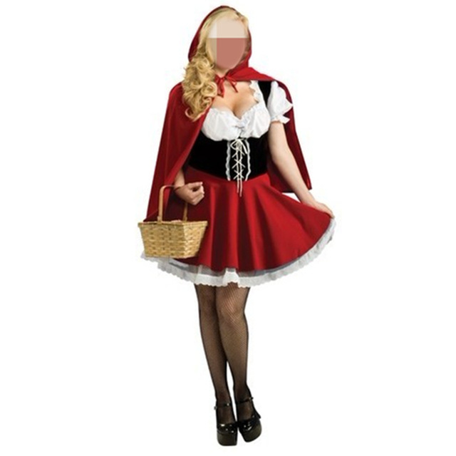 plus size women costumes for adults 2016 new litter red santas dress maid sexy cosplay party