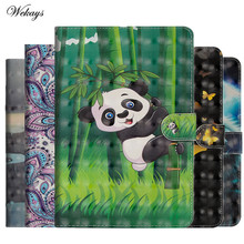 Wekays Case for IPad Mini 123 Cartoon Cat Butterfly PU Leather Smart Cover Case for Apple