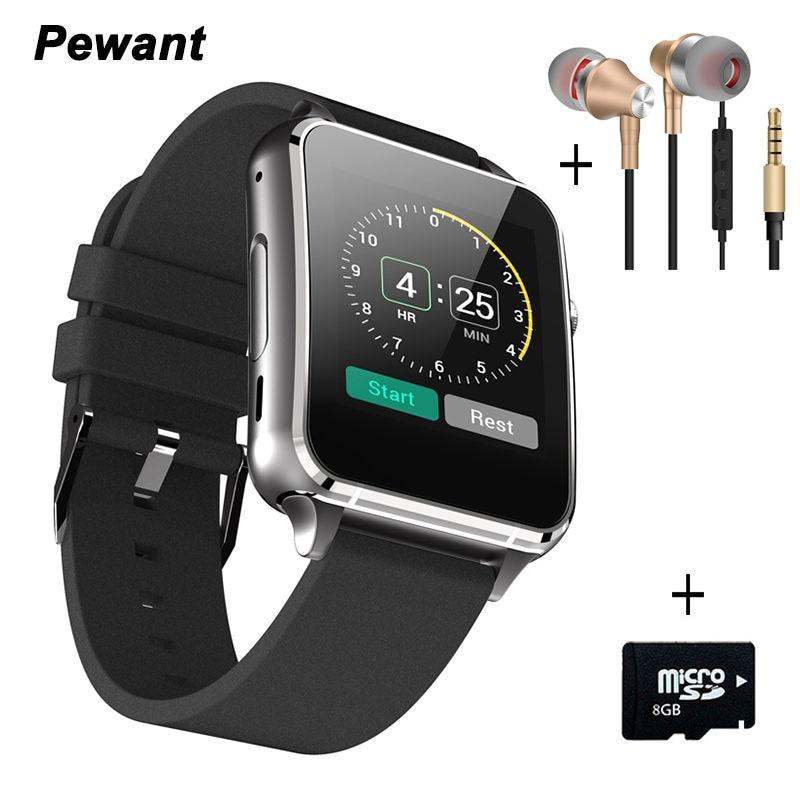 ФОТО 2017 Original Pewant Smart Watch Android Wear Clock Bluetooth Wristwatch Sport Running Watch For Smartphone Health Smart Wach