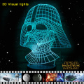 Star Wars 3D Visual Night Light LED Desk Battery-powered Lamps Luminaria de mesa Lampe de table Emergency Lights Lamparas Lampen