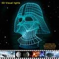 Star Wars 3D Visual Noche de Luz LED de Escritorio con pilas Lámparas Luminaria lampe de mesa de mesa de Luces de Emergencia Lamparas Lampen