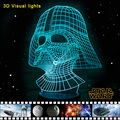 Star Wars 3D Visual Noite Bateria-powered Luz LED Desk Lâmpadas Luminaria de mesa lampe tabela de Luzes De Emergência Lamparas Lampen
