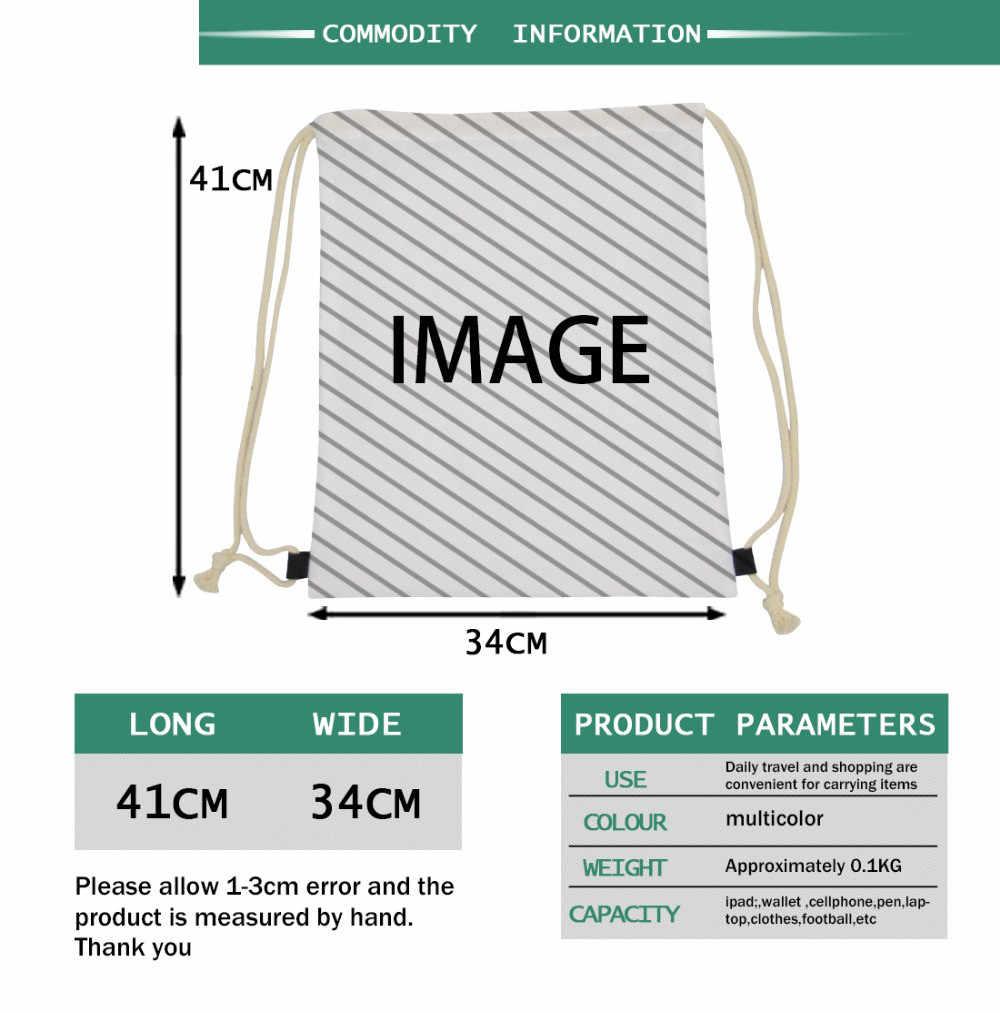 Paquete de mochila de bolsa de cuerdas de dibujo personalizado cualquier imagen está disponible la única necesidad es una imagen que haré el diseño para usted