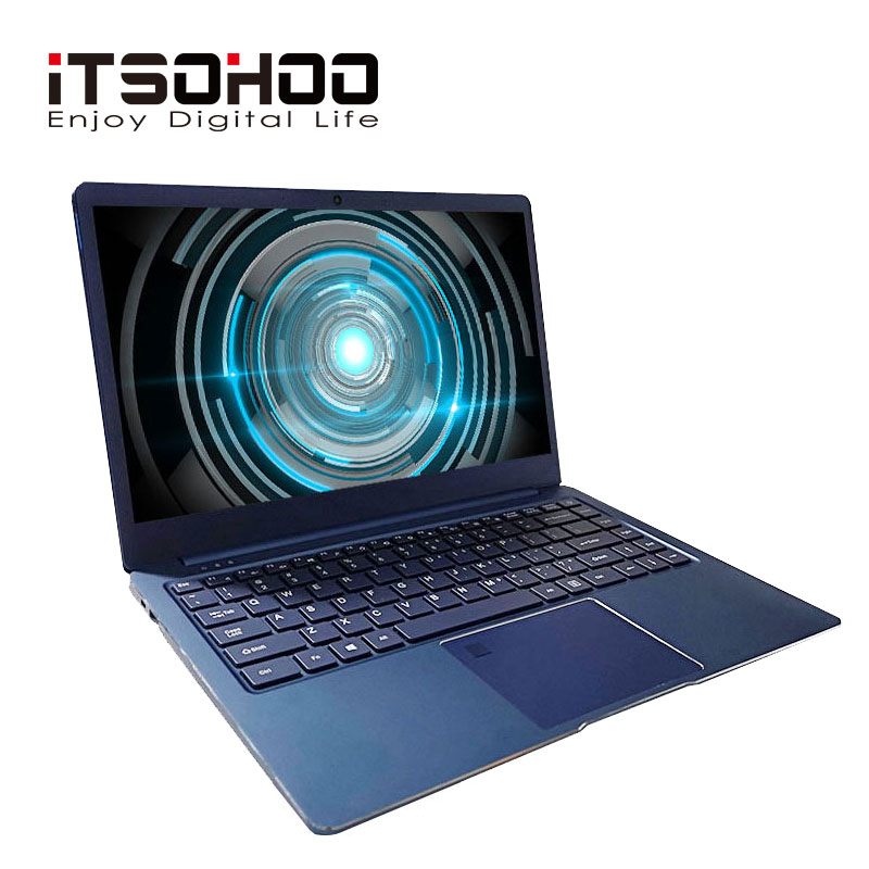 14.1 polegada 8GB gaming laptop Intel Cerelon Apollo N3450 Notebook computador iTSOHOO Windows10 64 Netbook 192GB 320 gb GB SSD opcional