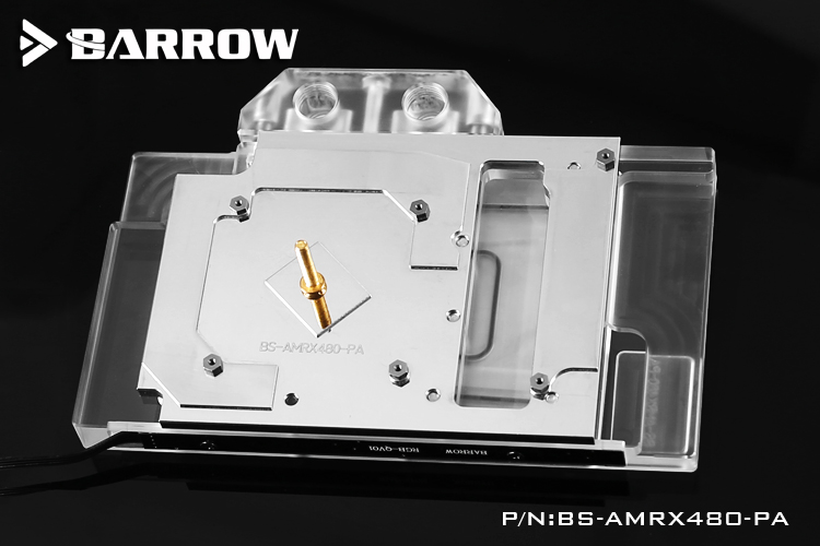 Купить с кэшбэком BARROW Full Cover Graphics Card Block use for Reference Edition RX480 / GV-RX480D5-8GD-B GPU Copper Radiator Block RGB to AURA