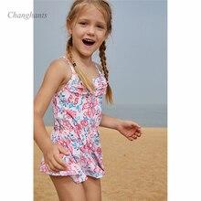Baby Girls 2 Pieces Swimwear 4-8 Y Kids Children Swimming Wear Bathing Suit Two Piece Swim suit bathing suits Dress Bottom цена