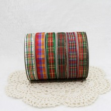 20yards/lot 9/16/25/38mm Multiple Styles Scottish Plaid Gingham Tartan Ribbon DIY Home Decoration Gift Wrapping Christmas