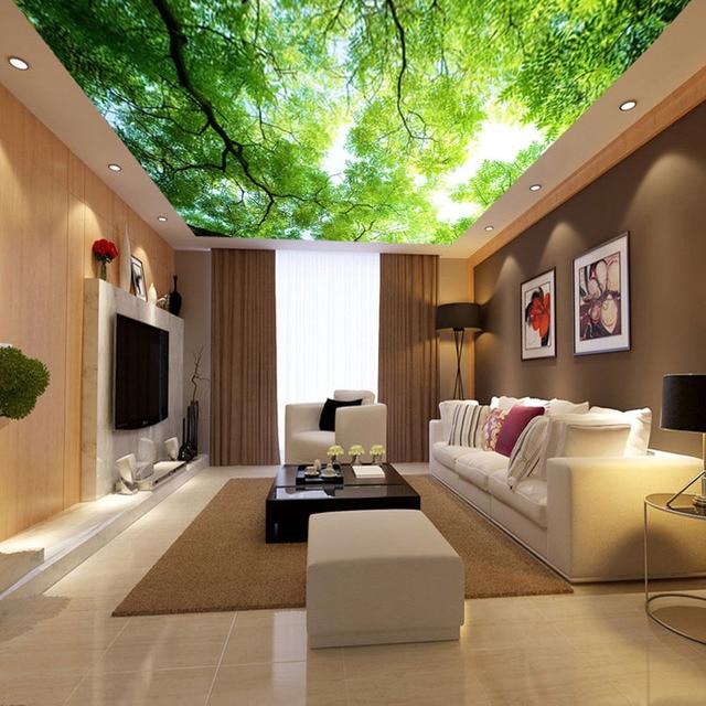 Naturliche Landschaft Baume Tapete Kundenspezifische Wandbild Grun