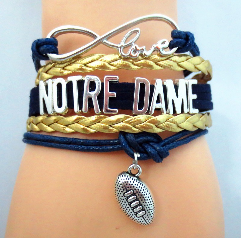 1pc Lot Hot Notre Dame Football Bracelets Infinity Love Souvenir Jewelry Charm Bangle In From Accessories