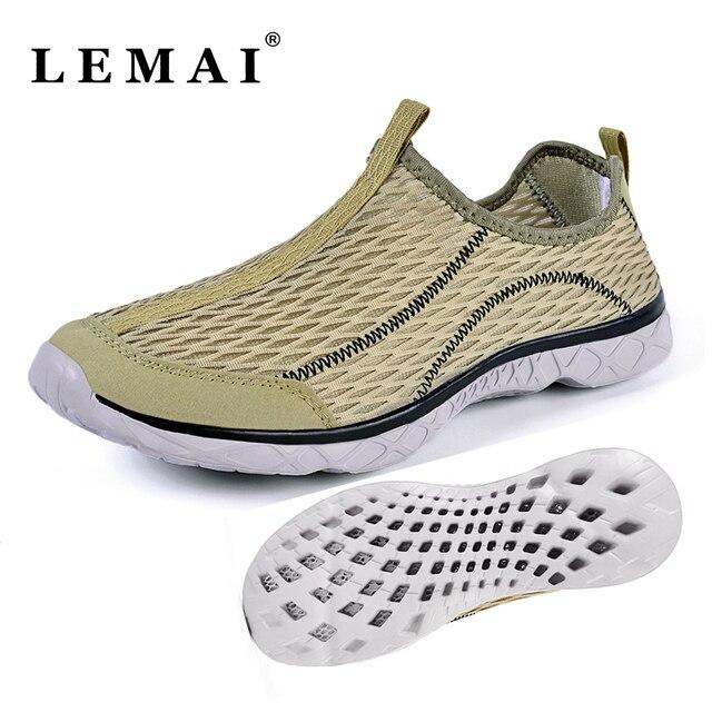 18594a4c7364 Unisex Men Women Water Shoes Breathable Women Beach Flats Summer Walking  Sneakers Slip On Aqua Sport Shoes