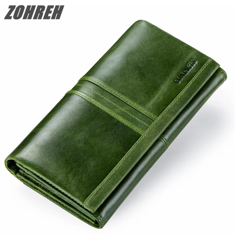2018 New Brand Wallet Female Long Clutch Card Holders With Cellphone Pocket Women Wallets Genuine Leather Coin Purse For Ladies baellerry 11 11 leather womens wallets coin pocket double zipper purse female long ladies phone clutch card holders wallet w049