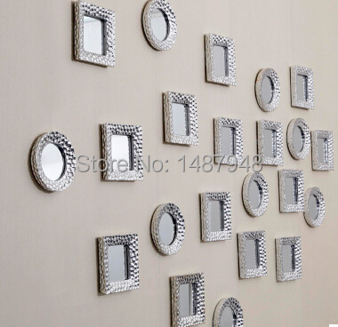 Small Decorative Wall Mirrors aliexpress : buy fashion silver plated ceramic wall hangings