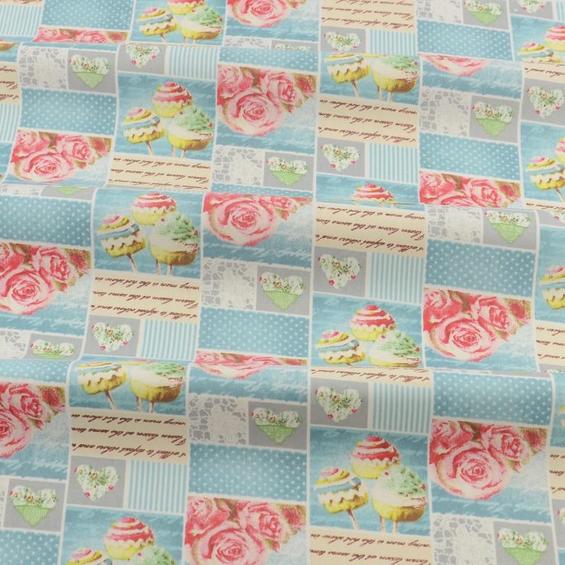 Prited floral diseño 50 cm x 160 cm azul de algodón acolchado ropa de cama de te