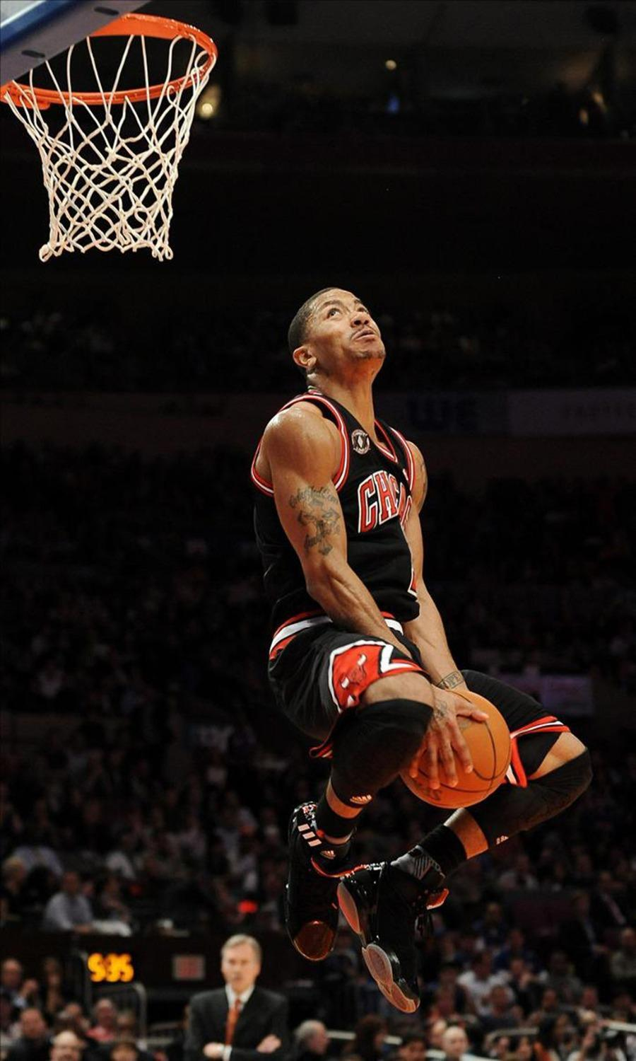 Derrick Rose Basketball Star Watercolor Inkjet Fabric Poster 40 X