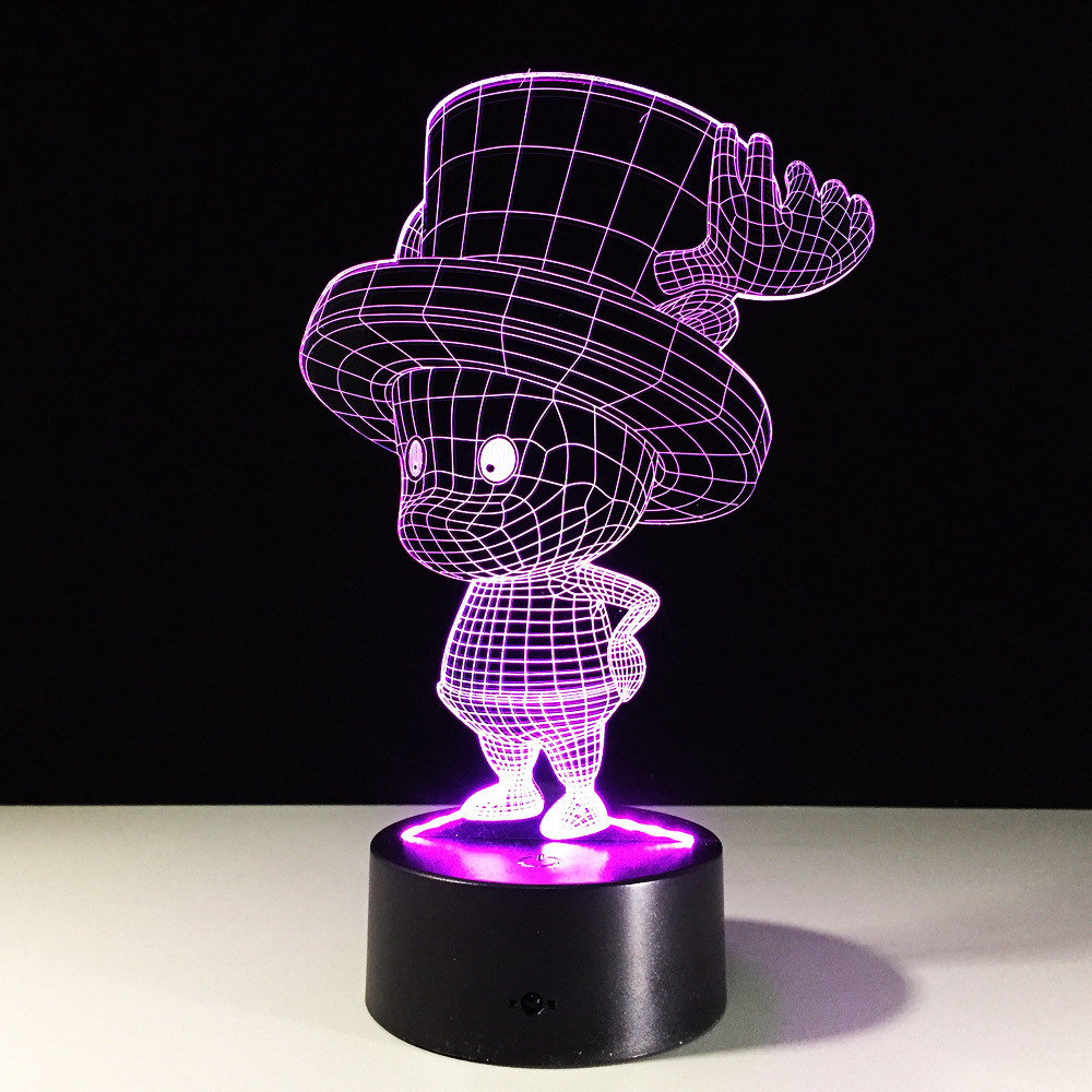 One Piece Tony Tony Chopper 3D Led Table Lamp Anime One Piece RGB 7 Color  Changing Night Lights Acrylic Base In LED Night Lights From Lights U0026  Lighting On ...