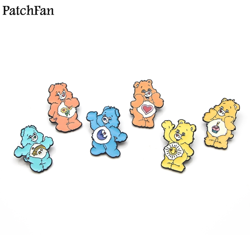 Home & Garden 20pcs/lot Patchfan Care Bear Zinc Cartoon Funny Pins Backpack Clothes Brooches For Men Women Hat Decoration Badges Medals A1107 Arts,crafts & Sewing
